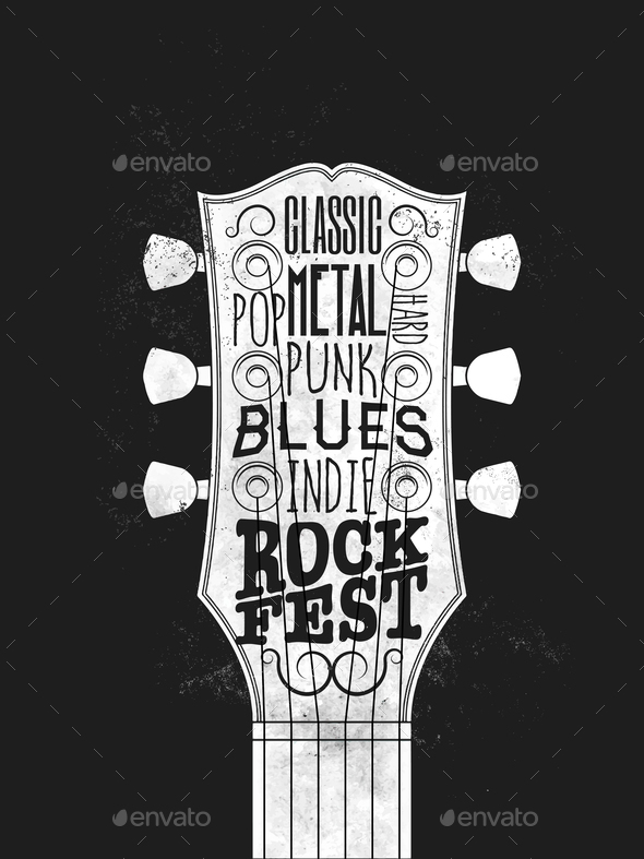 GraphicRiver Rock Music Festival Poster 21121777