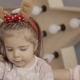 Portrait of a Little Girl with Deer Horns on Her Head - VideoHive Item for Sale