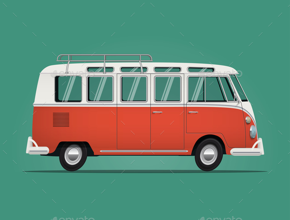 GraphicRiver Vintage Classic Bus 21121787