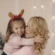 Little Girl Hugs Mom on Christmas Eve - VideoHive Item for Sale
