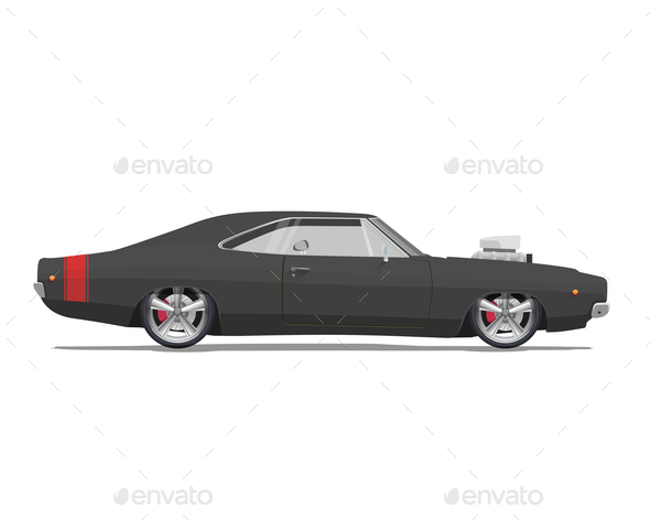 American Classic Muscle Car - Sports/Activity Conceptual