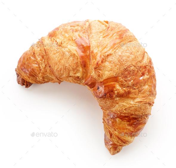 freshly baked croissant - Stock Photo - Images