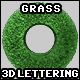 3D Furry Grass Lettering