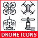 Quadrocopter, Multicopter, Drone Icons