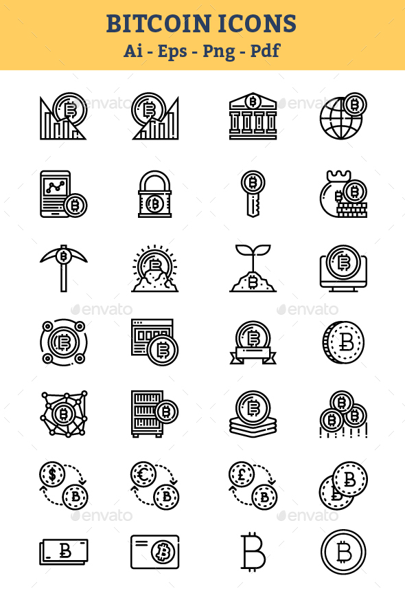Cryptocurrency & Blockchain Icons - Icons