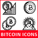 Blockchain Cryptocurrency Bitcoin Icons
