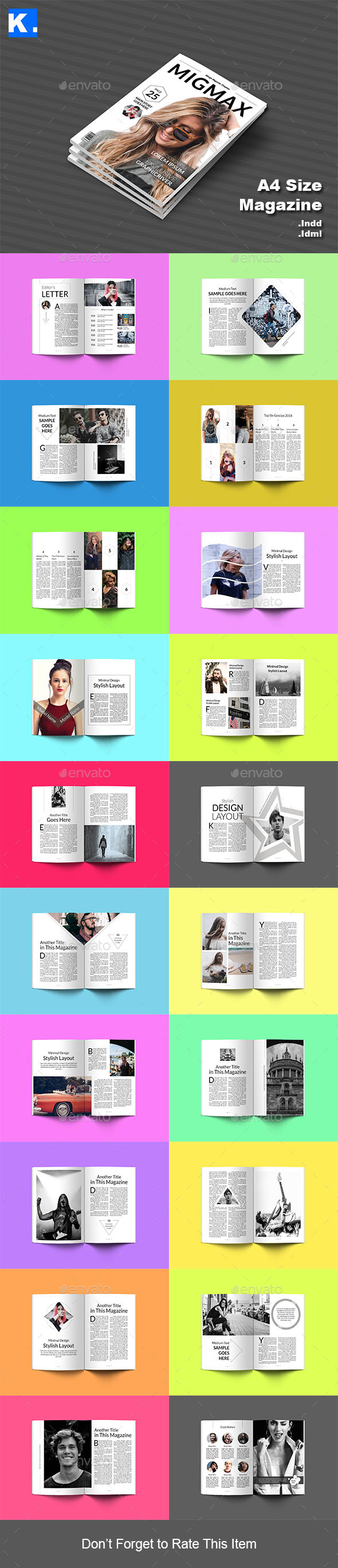 Indesign Magazine Template 6 - Magazines Print Templates