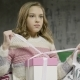 Unhappy Sad Teenage Girl Sitting Open Gift Box - VideoHive Item for Sale