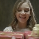 Smiling Girl Take Family Xmas Box From Parents - VideoHive Item for Sale