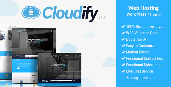 Image of Cloudify - Web Hosting WordPress Theme