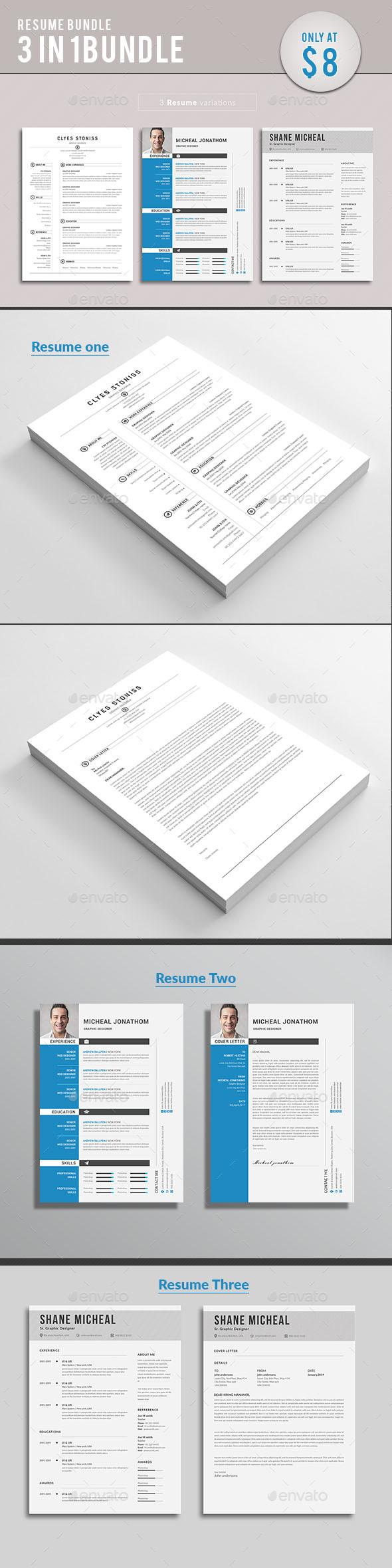 GraphicRiver Resume bundle 21122204