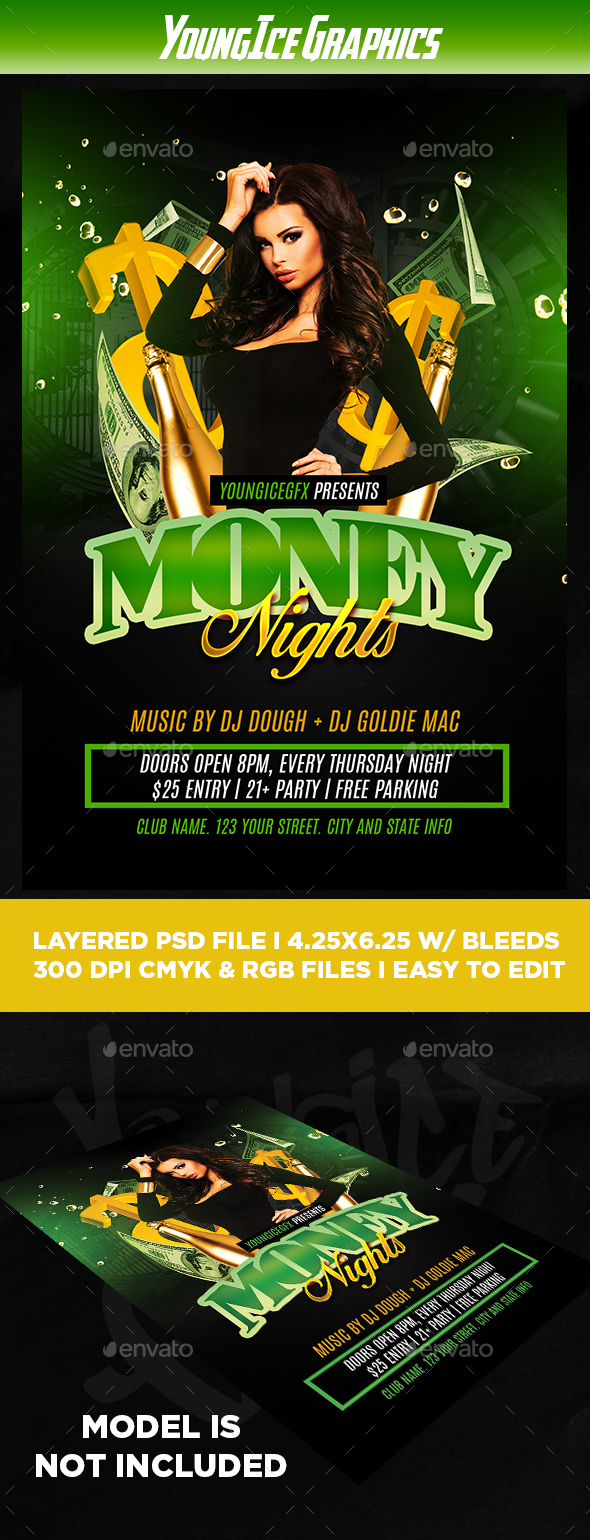 Money Party Flyer Template - Clubs & Parties Events