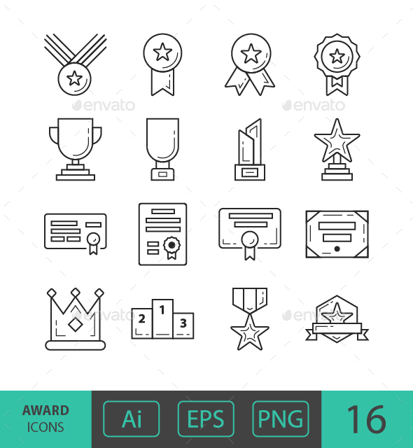GraphicRiver Award Icons 21122272