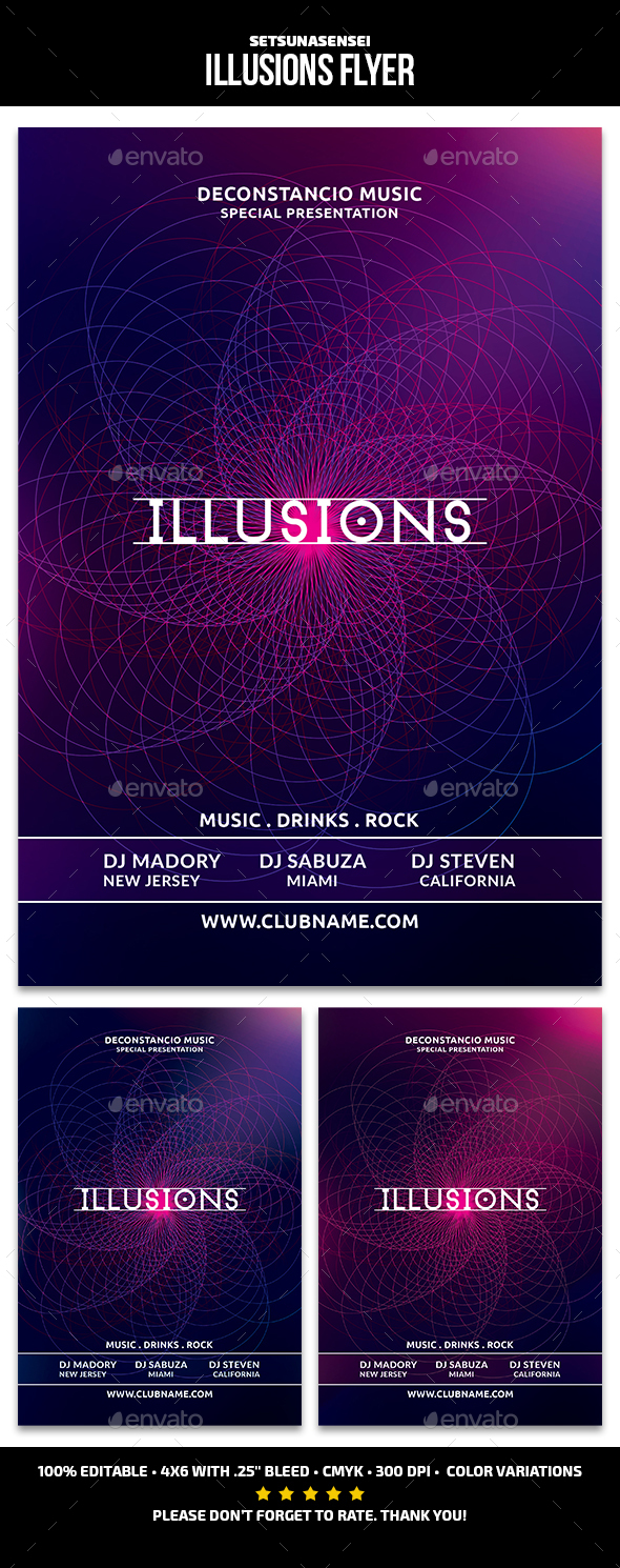 GraphicRiver Illusions Flyer 21122277