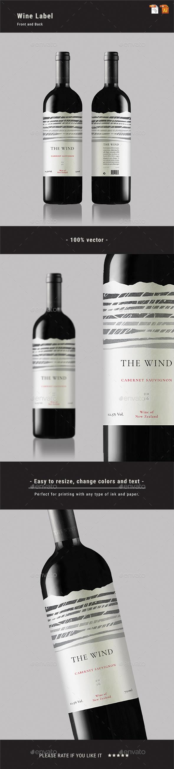 GraphicRiver Wine Label 21122305