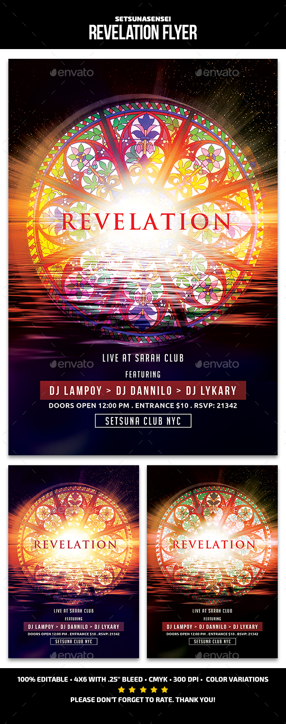 GraphicRiver Revelation Flyer 21122317