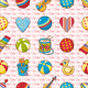 Seamless Pattern of Baby Toys