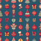 Merry Christmas Pattern With Christmas Toys - GraphicRiver Item for Sale