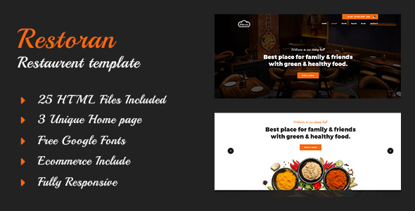 Download Restoran - Hotel and Restaurant  HTML5 Template            nulled nulled version