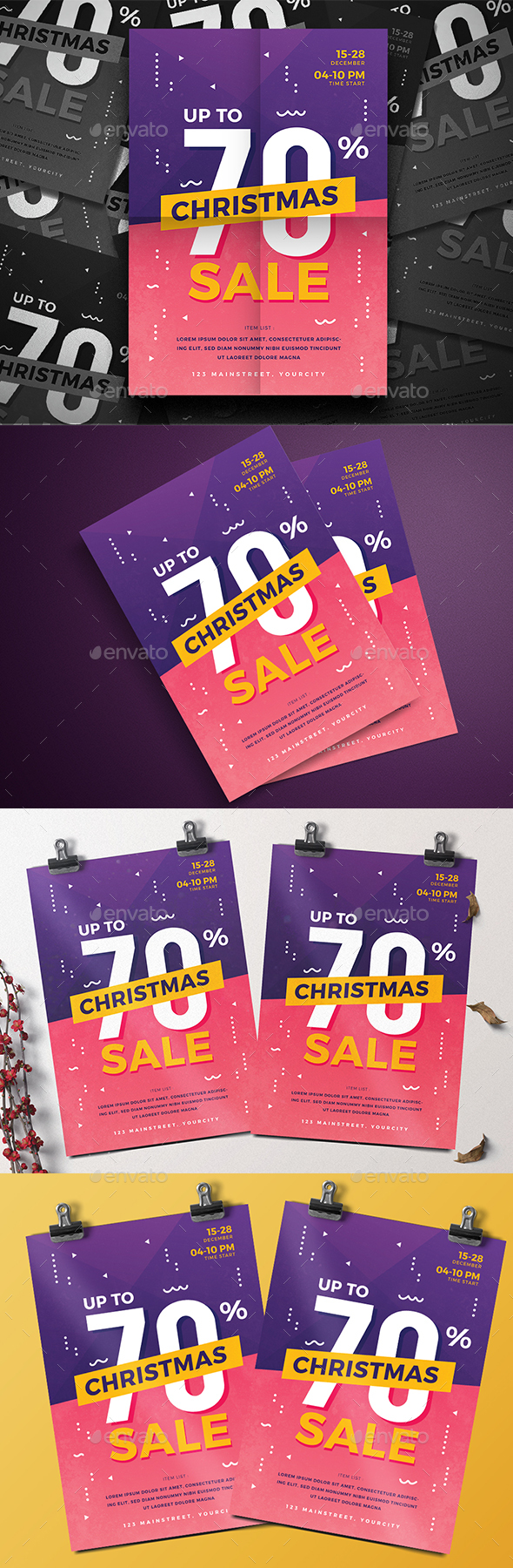 GraphicRiver Christmas Sale Flyer 21122532