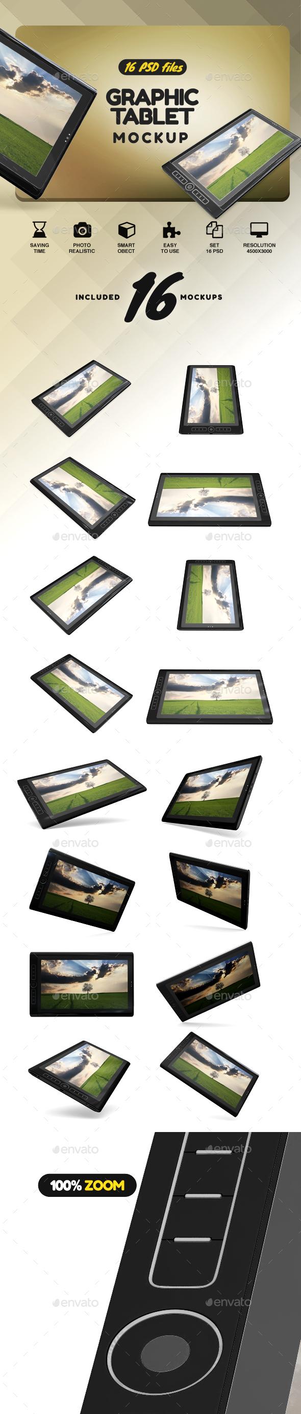 Graphic Tablet Mockup - Monitors Displays