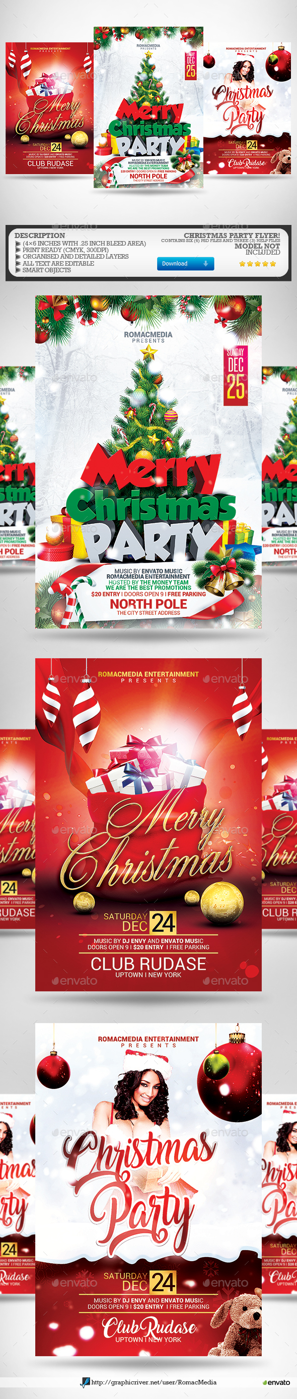 Christmas Flyer Bundle 1 - Clubs & Parties Events