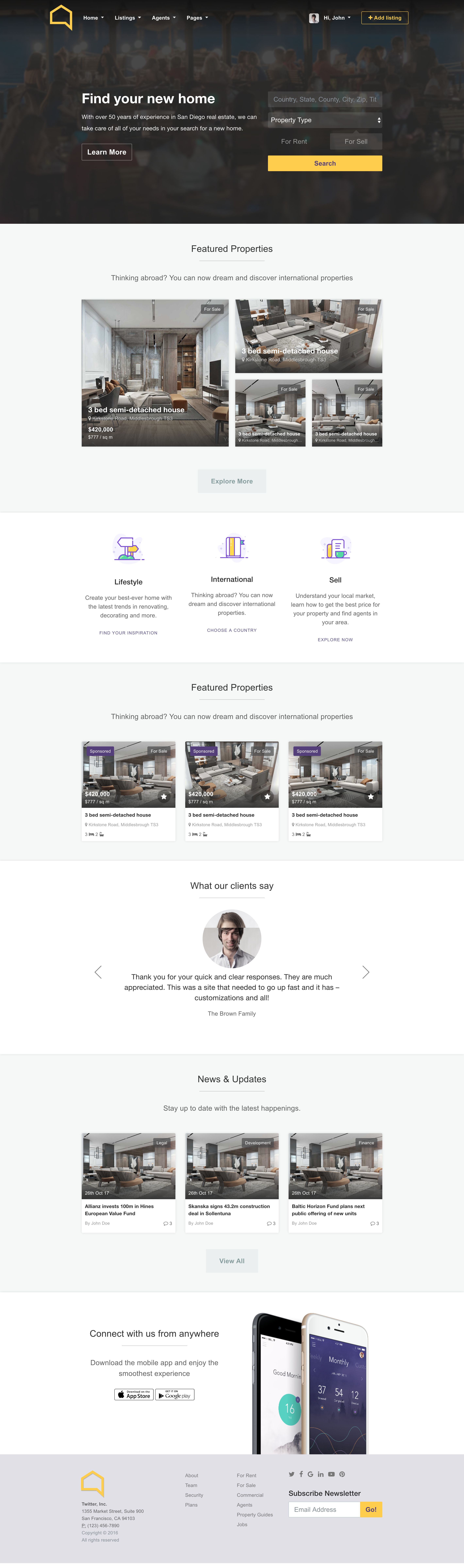 listo real estate bootstrap 4 0 html template by ui love themeforest