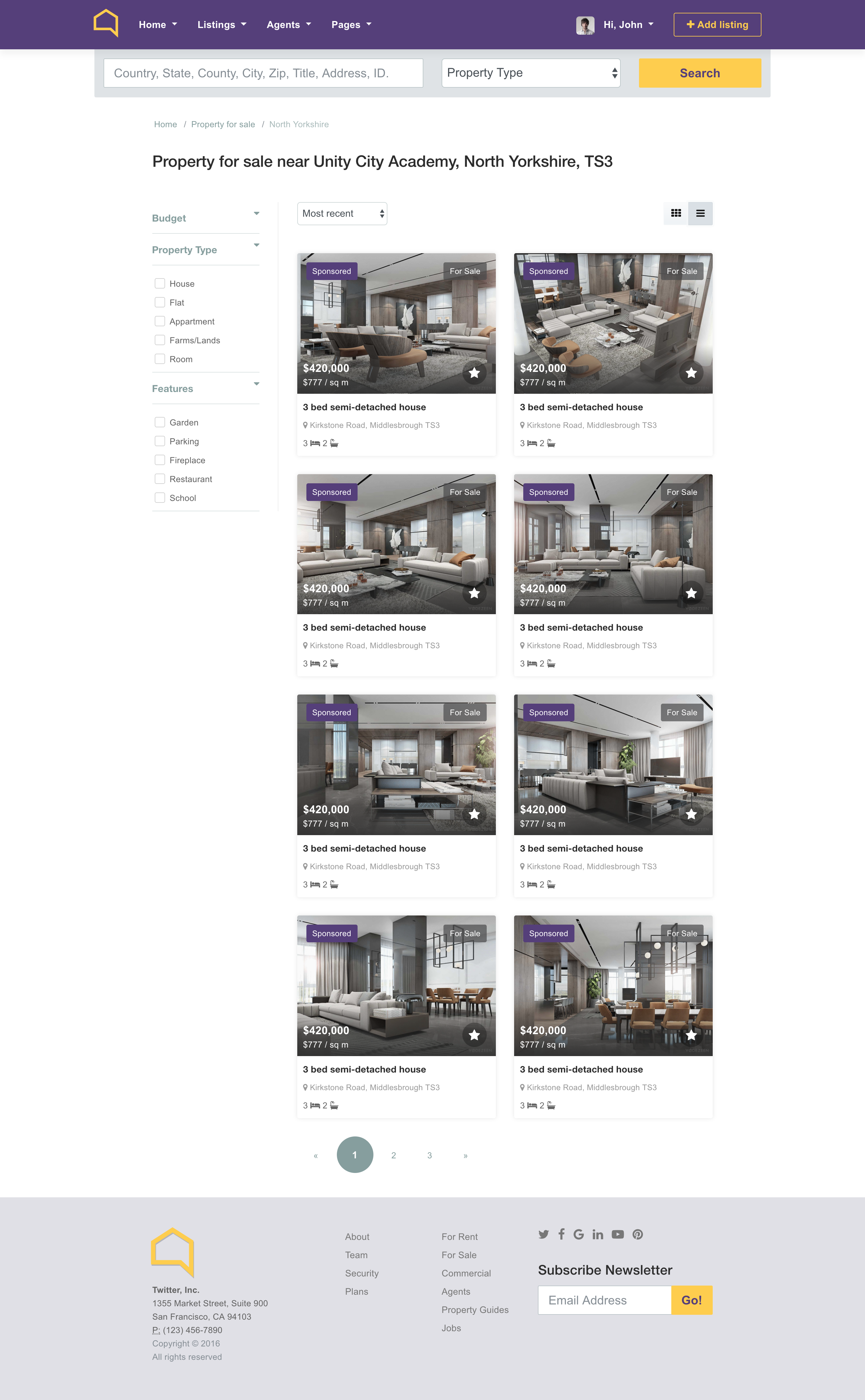 Listo Real Estate Bootstrap 4.0 HTML Template by ui-love | ThemeForest