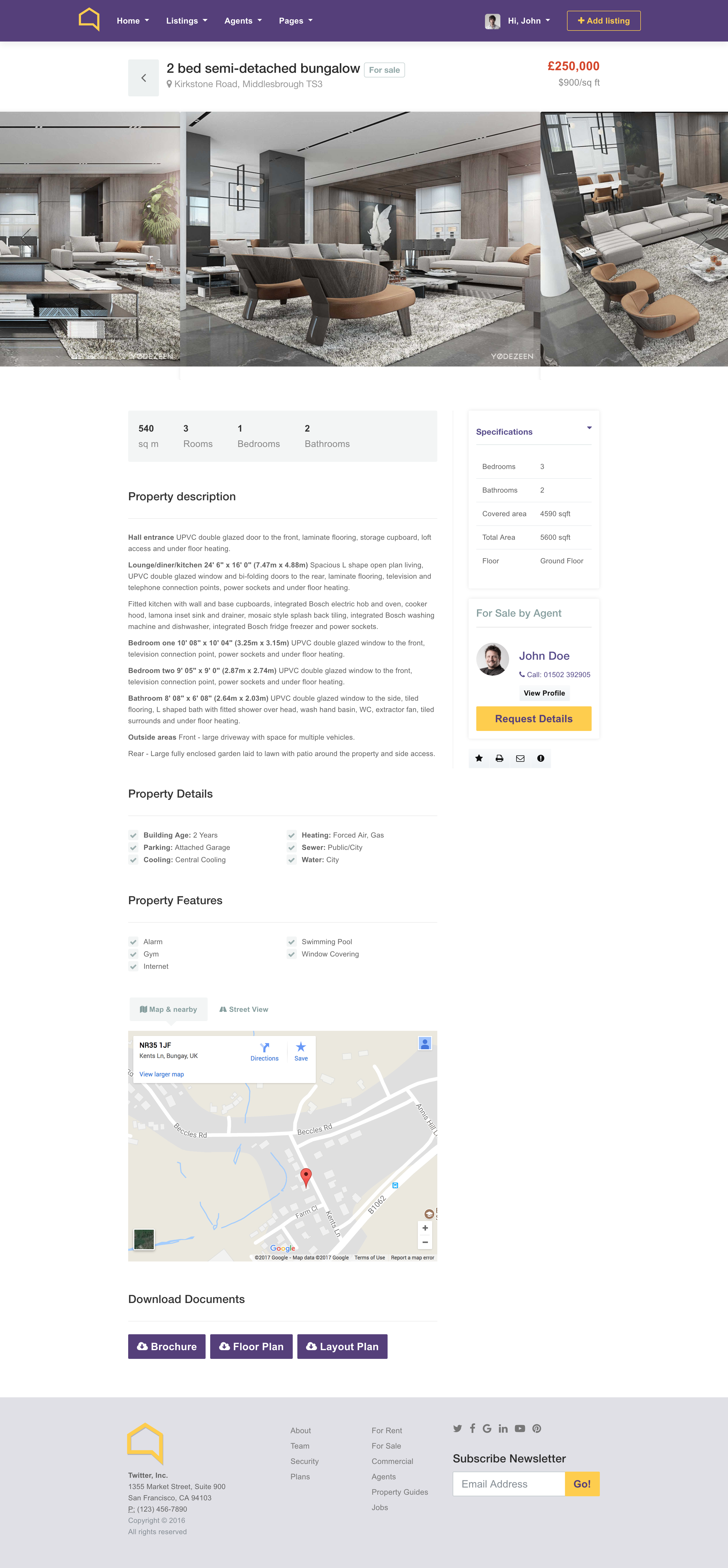 Listo Real Estate Bootstrap 4 0 HTML Template