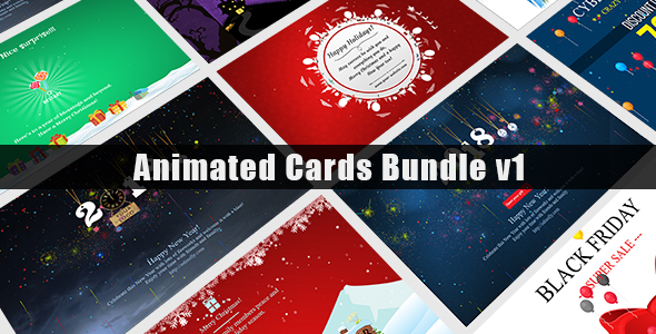 Animated Cards Bundle v1 - CodeCanyon Item for Sale