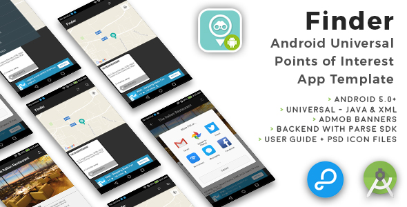 Finder | Android Universal Points of Interest App Template - CodeCanyon Item for Sale
