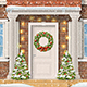 The Door Decorated With a Christmas Wreath - GraphicRiver Item for Sale
