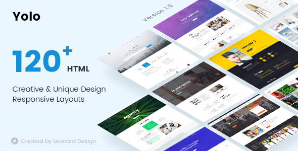 ThemeForest Yolo Responsive Multi-Purpose HTML Template 21122919