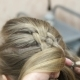 Master Makes Hairstyle Girl Hairstyling Process