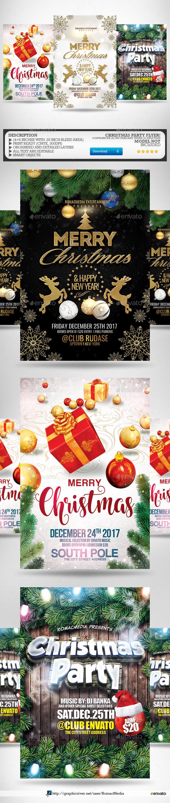 Christmas Flyer Bundle 3 - Holidays Events