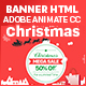 Christmas - Shopping HTML 5 Banner Animated (Animate CC)