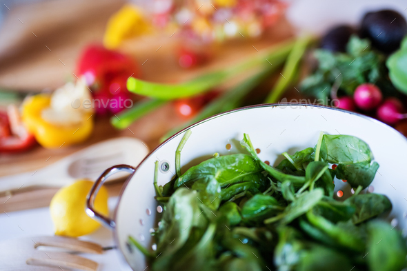 Fresh vegetables on the table. - Stock Photo - Images