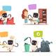 Robots Assistance Concept 4 Icons