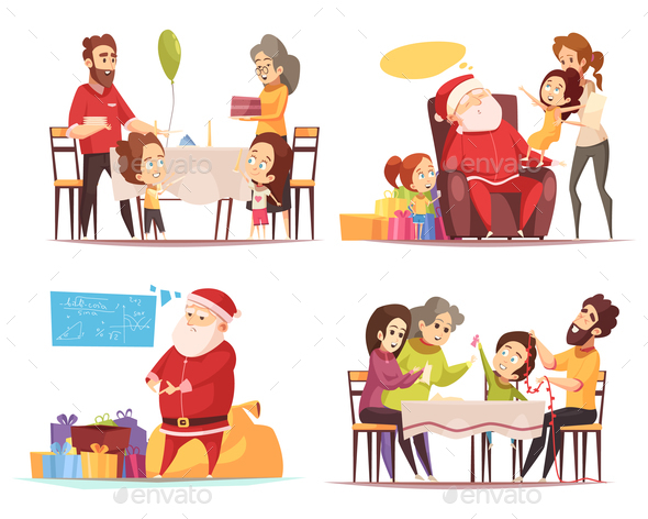 GraphicRiver Christmas 2x2 Design Concept 21123069