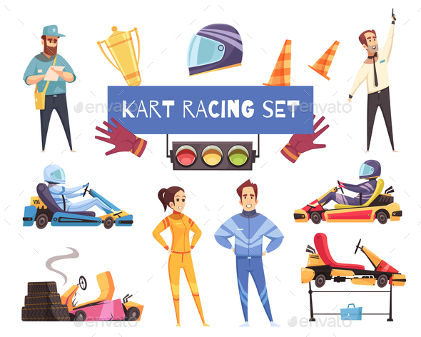 GraphicRiver Karting Sport Set 21123071