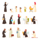 Arabs Family Cartoon Icons Set