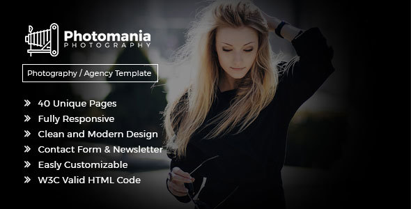 Photomania - Modern Photography Template Free Download | Nulled