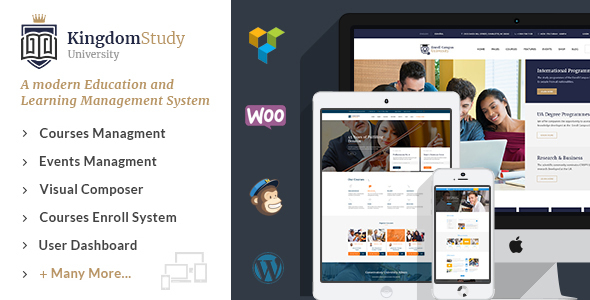 Kingdom Study - WP Learning Management System WordPress Theme - Education WordPress
