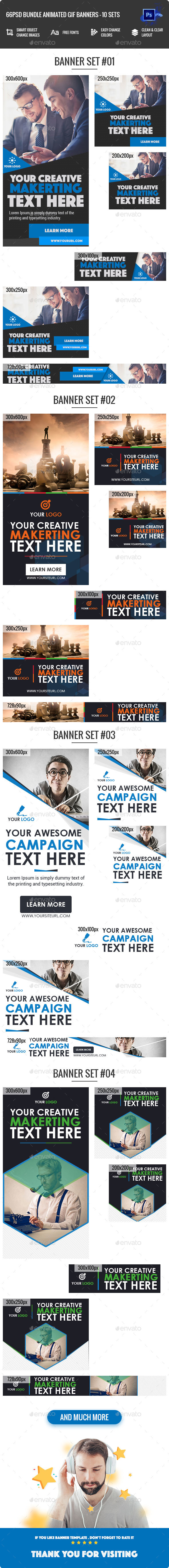 GraphicRiver Bundle Animated GIF Multipurpose Business Corporate Banners Ad 11 Sets 21123198
