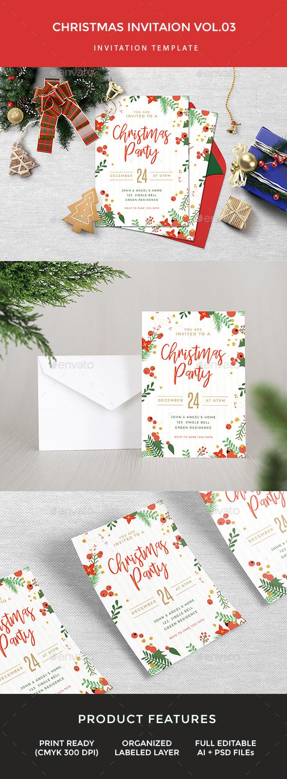 Christmas Invitation - Invitations Cards & Invites