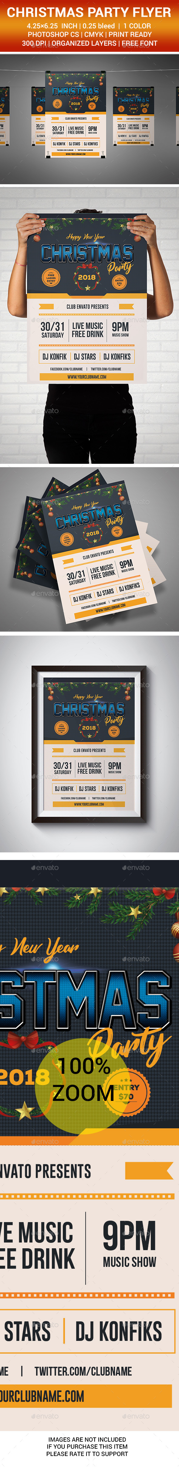 GraphicRiver New Year Christmas Flyer 2018 21123259