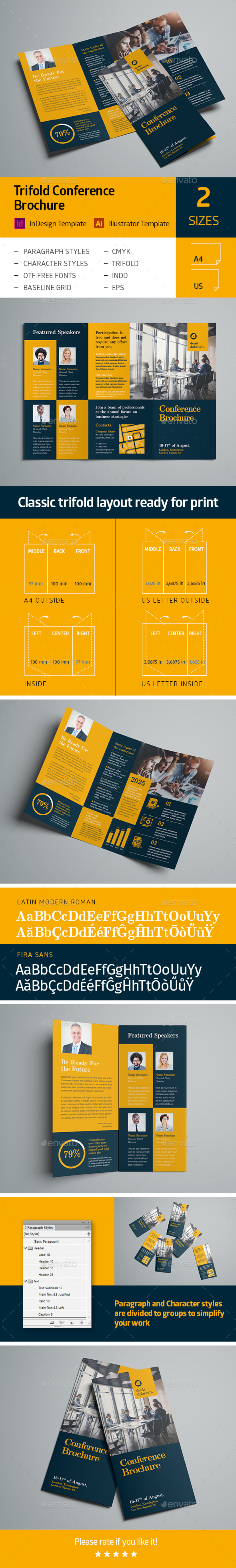 GraphicRiver Trifold Conference Brochure 21123300