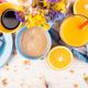 Healthy Breakfast. Various Assortment Set. Orange Juice, Granola, Coffee and Fruit. - PhotoDune Item for Sale