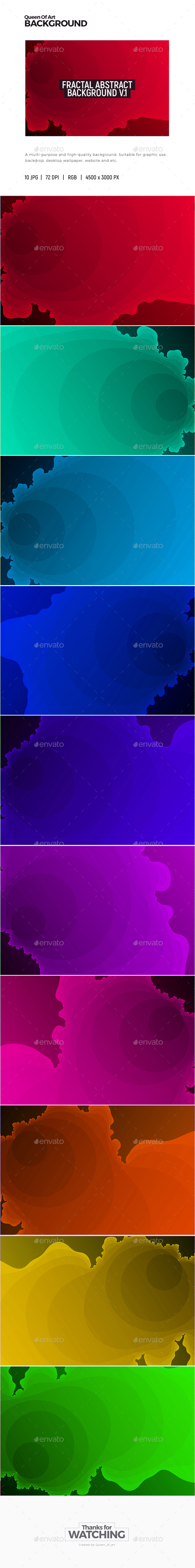 Fractal Abstract Background 1 - Abstract Backgrounds