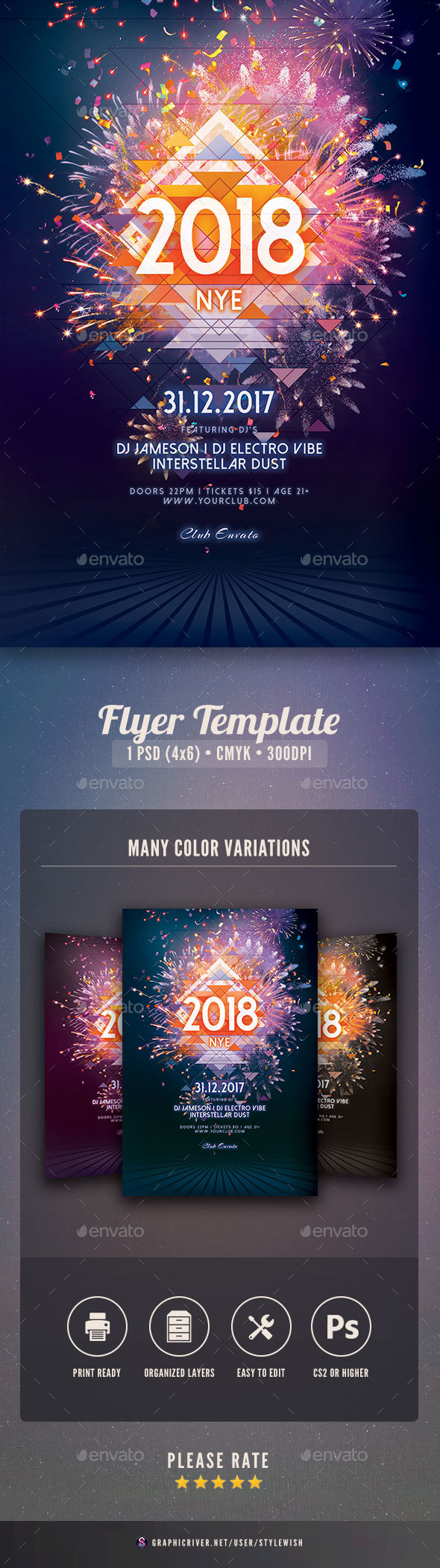 GraphicRiver New Year Flyer 21123492